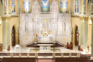 St. Alphonsus Catholic Church in Chicago, Illinois restored by Daprato Rigali Studios