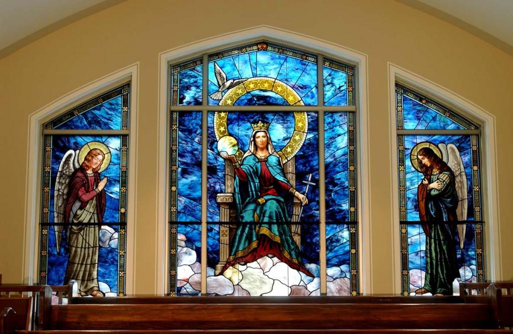 e3c77808b179 stained glass window fabrication restoration creation daprato rigali.  StainedGlassFabrication HolyAngelsChurch QueenofAngels