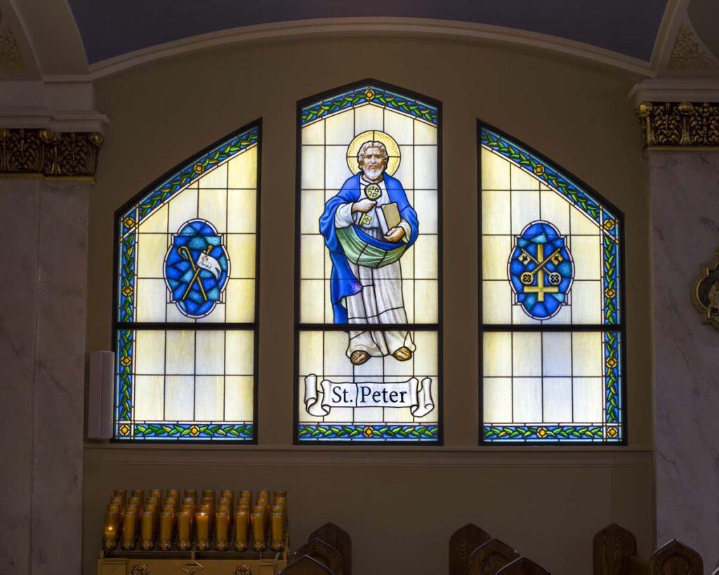 f555cab36e08 StainedGlassFabrication StPeter IcElmhurst.  StainedGlassFabrication StPeter IcElmhurst stained glass window fabrication  restoration creation daprato rigali