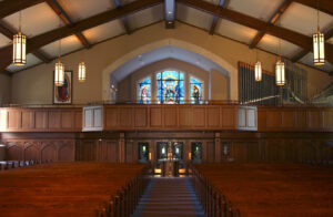 choir loft renovation chicago church interiors