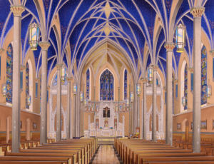 Peoria Cathedral of St. Mary of the Immaculate Conception Restoration brochure Daprato Rigali Studios