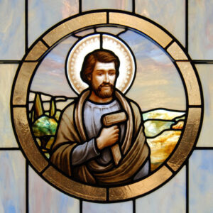joseph the worker stained glass