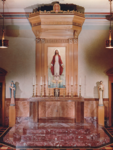 Cardinal Stritch Retreat House Chapel, designed and furnished by Daprato Rigali Studios.
