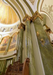 Faux Marbling at St. Mary of Perpetual Help in Chicago
