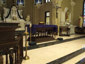 St. Michael's marble renovation
