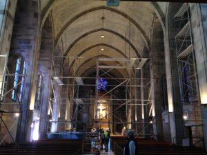scaffold building Cathedral Atlanta