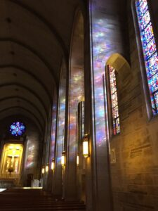 Cathedral renovation marble painting stained glass
