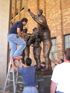 Ara Parseghian statue placement notre dame stadium