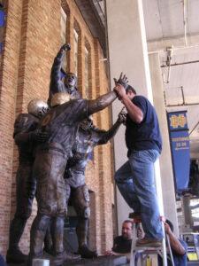 Ara Parseghian statue Daprato Rigali