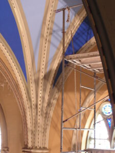 interior painting artist scaffolding