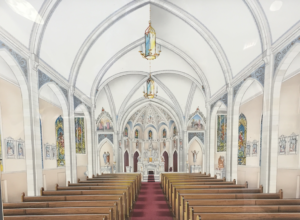 church design planning interior