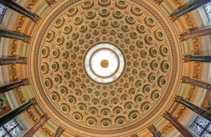 domed ceiling painted decoration daprato