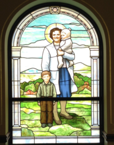 Painted Stained Glass window family
