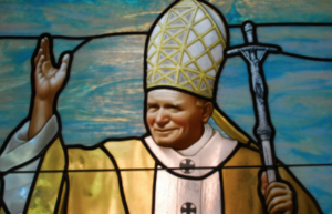 Pope John Paul stained glass Chicago Daprato