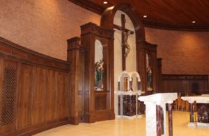 St Matthew's Champaign wood re-finishing