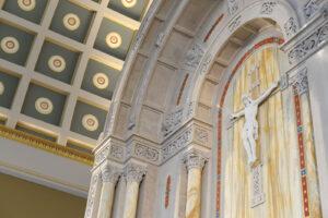 high altar mosaic Carrara marble