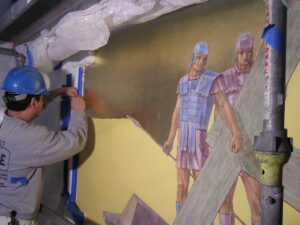 loyola chapel paint renovation